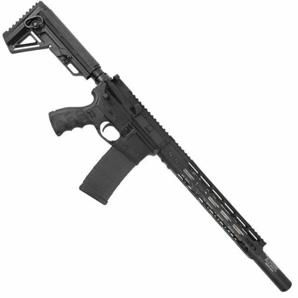 AR15 300 BlackOut Upper With 12 Inch MDLTE M LOK And Fake Suppressor 1